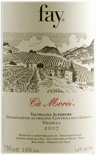 Fay Valtellina Superiore Valgella 'Ca' Morei' 2007-0