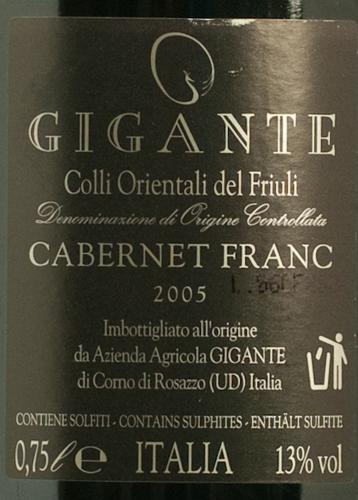 Gigante Cabernet Franc 2005-585