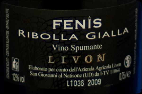 Livon Spumante Fenis Ribolla Gialla -113