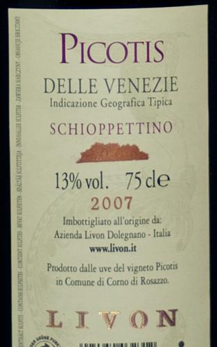Livon Gran Cru Picotis Schioppettino 2007-124
