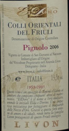 Livon Cru Pignolo Eldoro 2006-287
