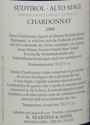 Martini Chardonnay Maturum 2008-250