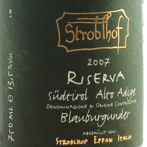 Stroblhof Pinot Nero Riserva 2007-0