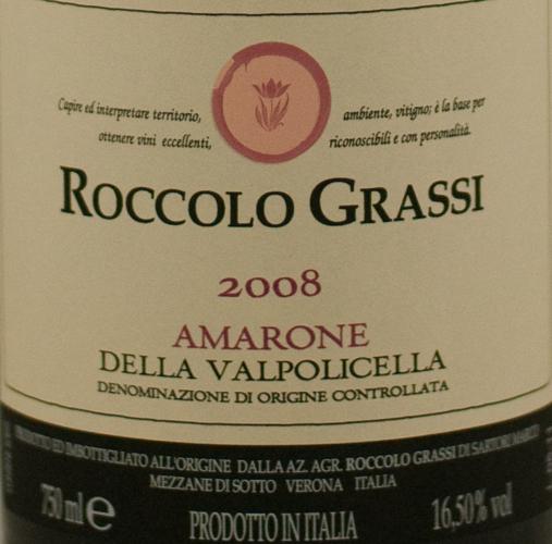 Roccolo Grassi Amarone 2008-0