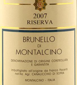 Pacenti Canalicchio Brunello di Montalcino 2007 Riserva-0