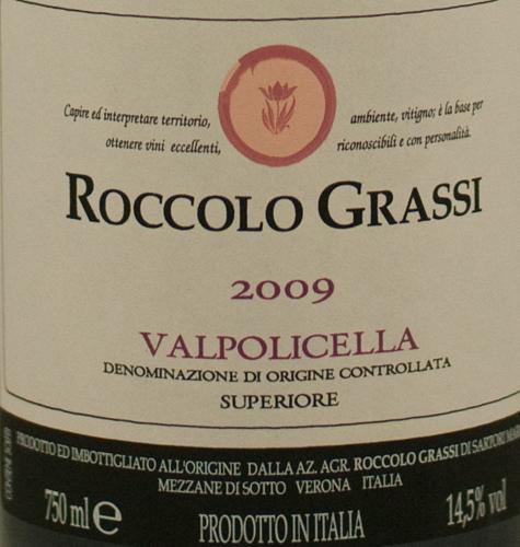 Roccolo Grassi Valpolicella Superiore 2010-0