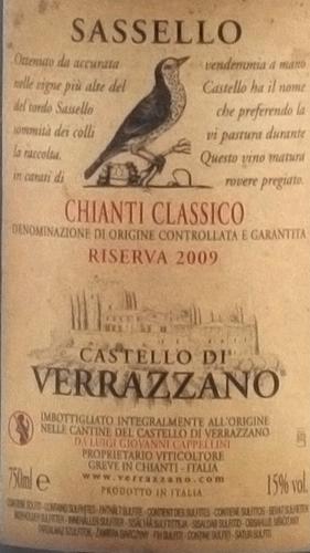 Verrazzano Chianti Classico Riserva Sassello 2009-1548