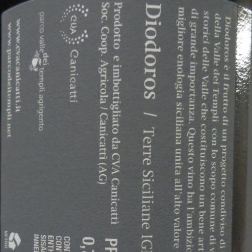 Canicatti Nero d'Avola Diodoros 2012-1679