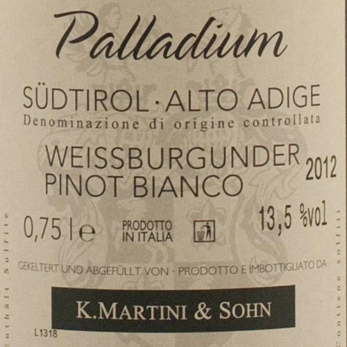 Martini Pinot Bianco Palladium 2014-1943