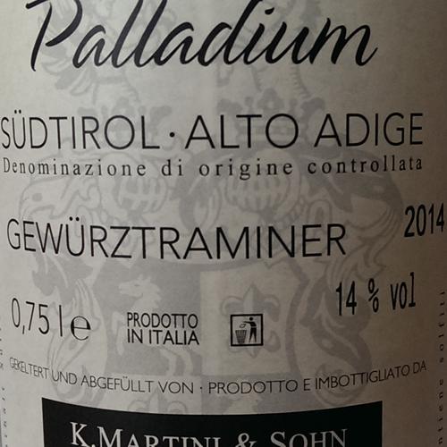 Martini Gewurztraminer Palladium 2014