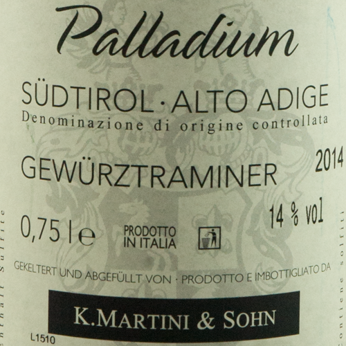 Martini Gewurztraminer Palladium 2014-2117