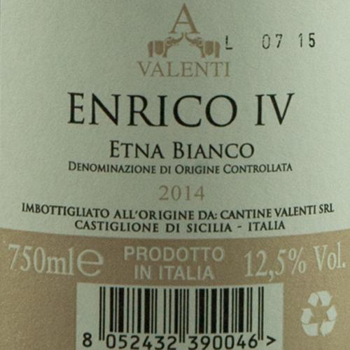 Valenti Etna Bianco Enrico IV