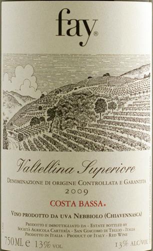 Fay Valtellina Superiore DOCG Costa Bassa 2012-2238