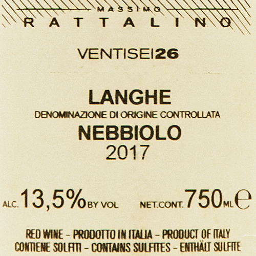 Rattalino Langhe Nebbiolo Ventisei26