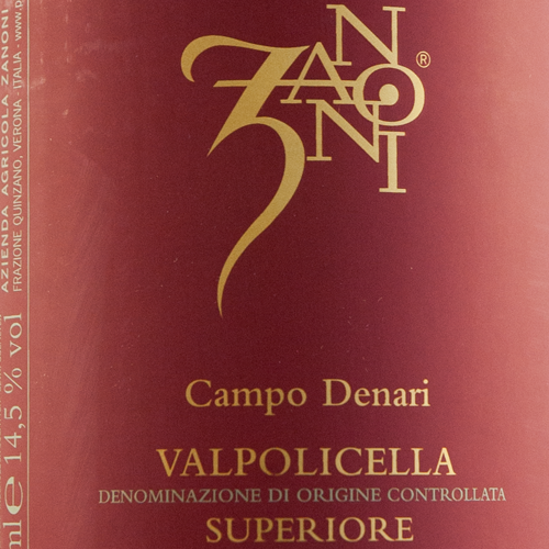 Zanoni Valpolicella Superiore Campo Denari