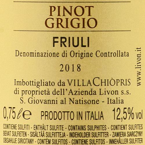 Livon VillaChiopris Pinot Grigio